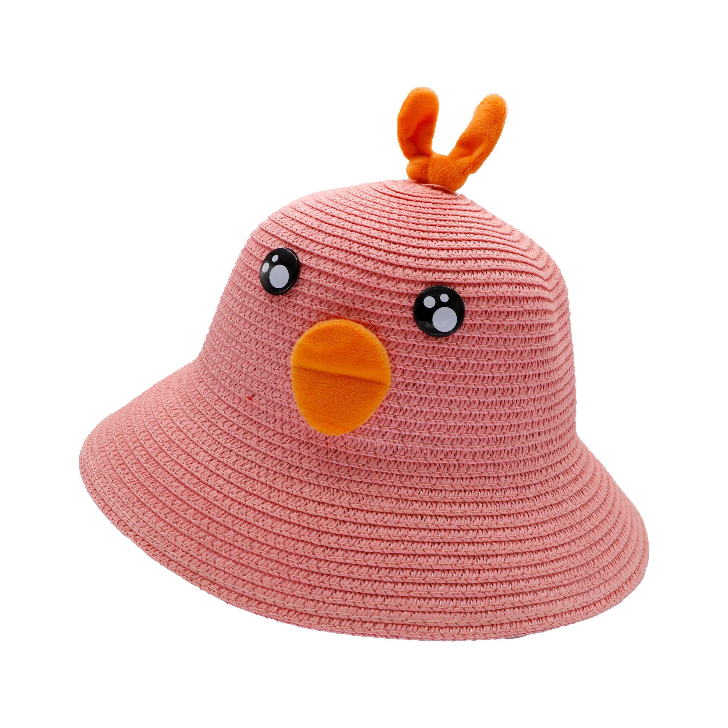 کلاه بچگانه مدل جوجه اردک رنگ صورتی