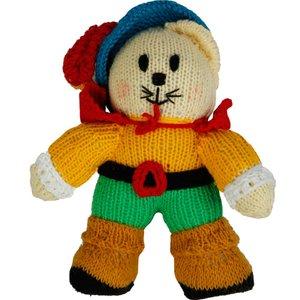 عروسک بافتنی گربه چکمه پوش