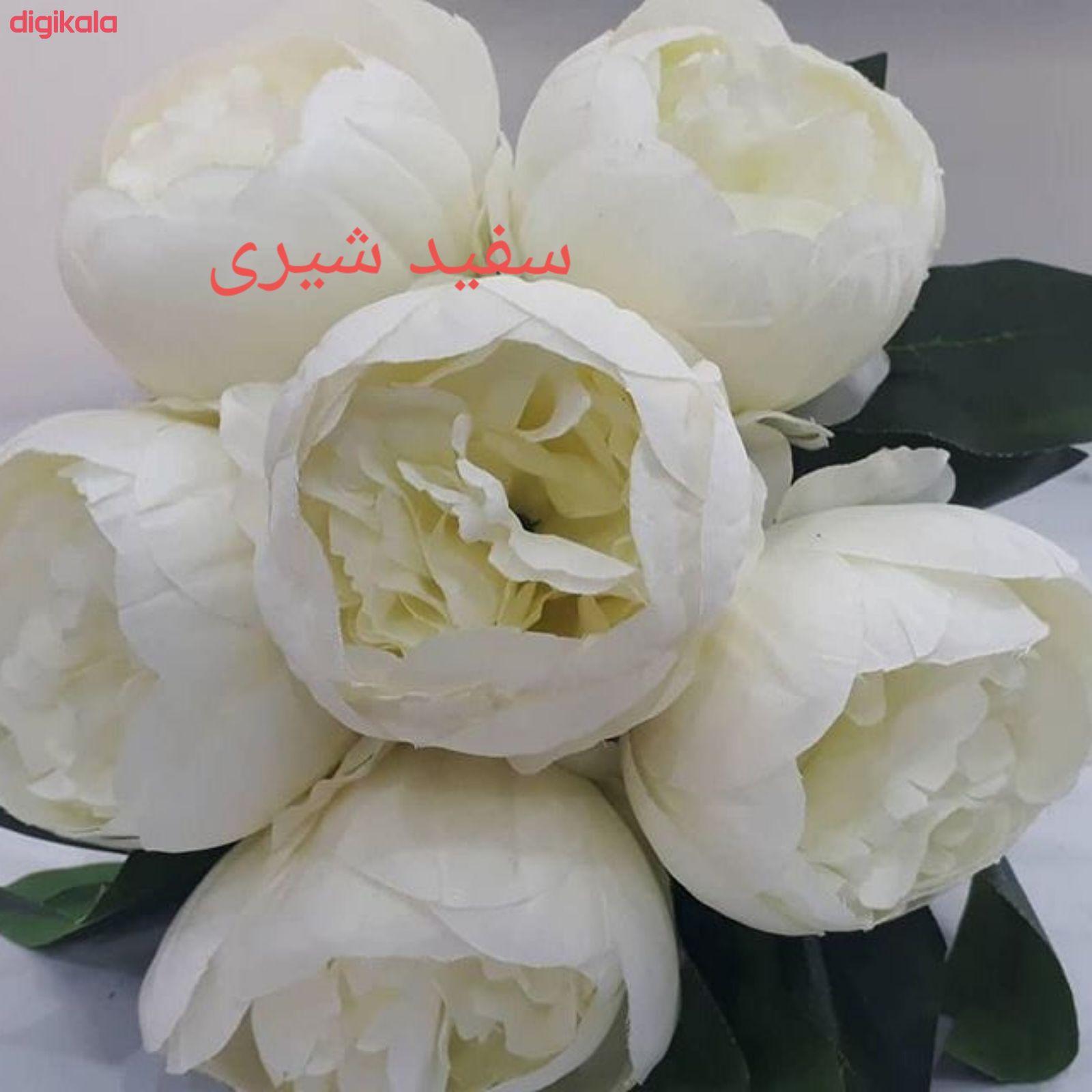 گل مصنوعی طرح پیونی کد pa0085 main 1 5