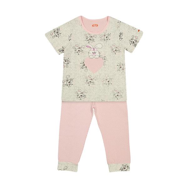 ست تی شرت و شلوار راحتی دخترانه مادر مدل 2041105-84