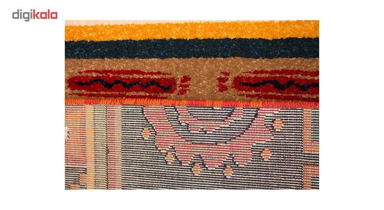 فرش ماشینی ساوین طرح شیوا کد FSM49 زمینه سرمه ای main 1 3