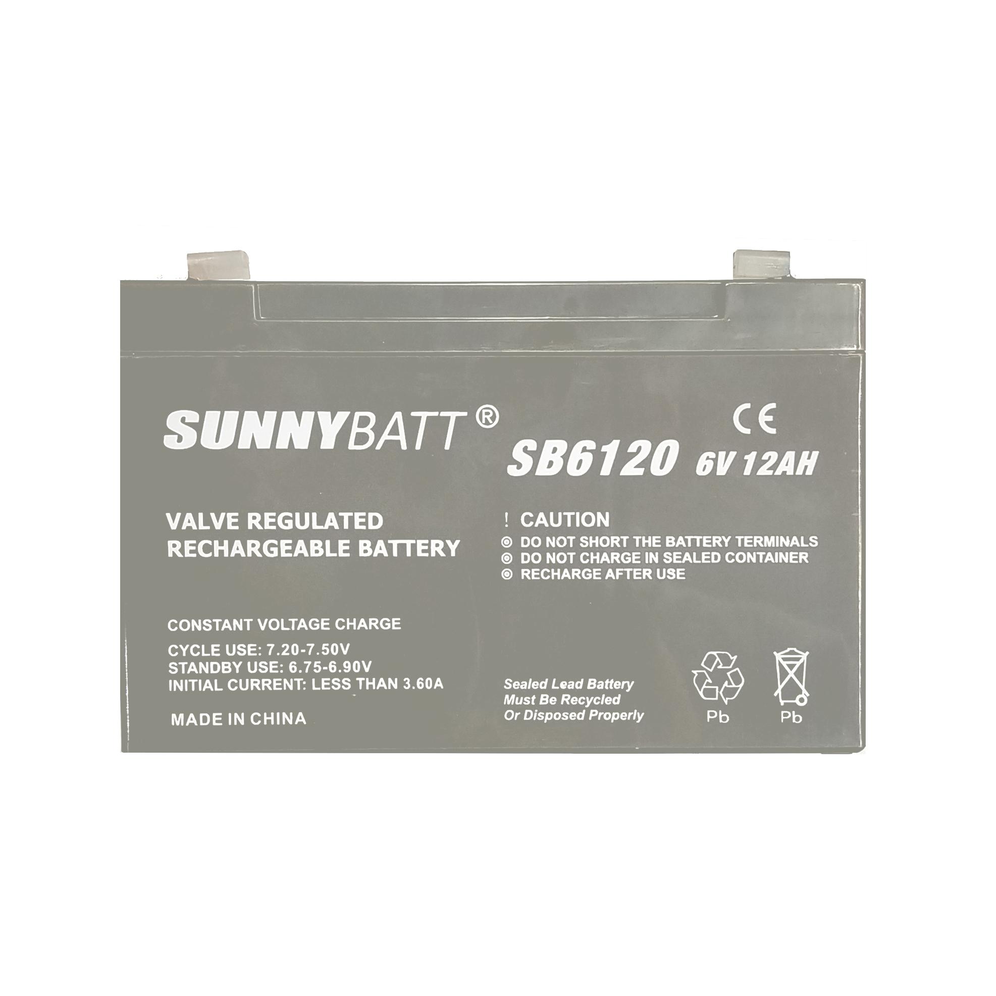 باتری یو پی اس 6 ولت 12 آمپر ساعت سانی بت مدل SB_612