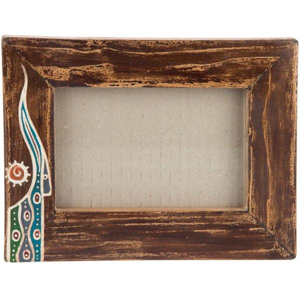 قاب عکس چوبی گالری اشکان نقش 6 سایز 15 × 10 سانتی متر