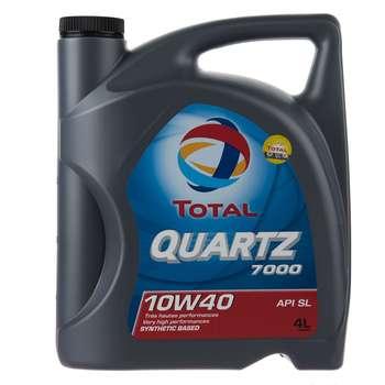 روغن موتور خودرو به توتال مدل Quartz 7000 حجم 4 لیتر