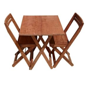 میز و صندلی ناهار خوری 2 نفره مدل تاشو