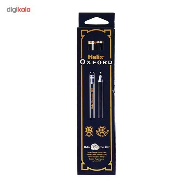 مداد مشکی هلیکس آکسفورد مدل Premium Grade - بسته 12 عددی main 1 1