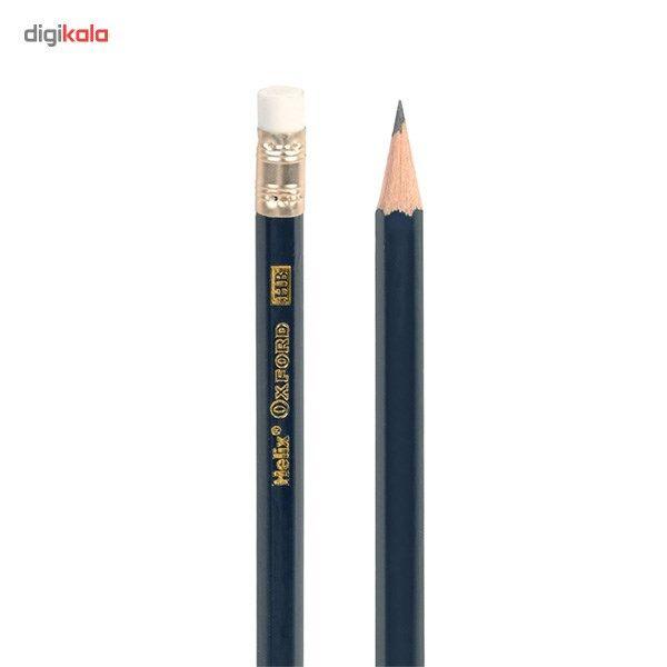 مداد مشکی هلیکس آکسفورد مدل Premium Grade - بسته 12 عددی main 1 3