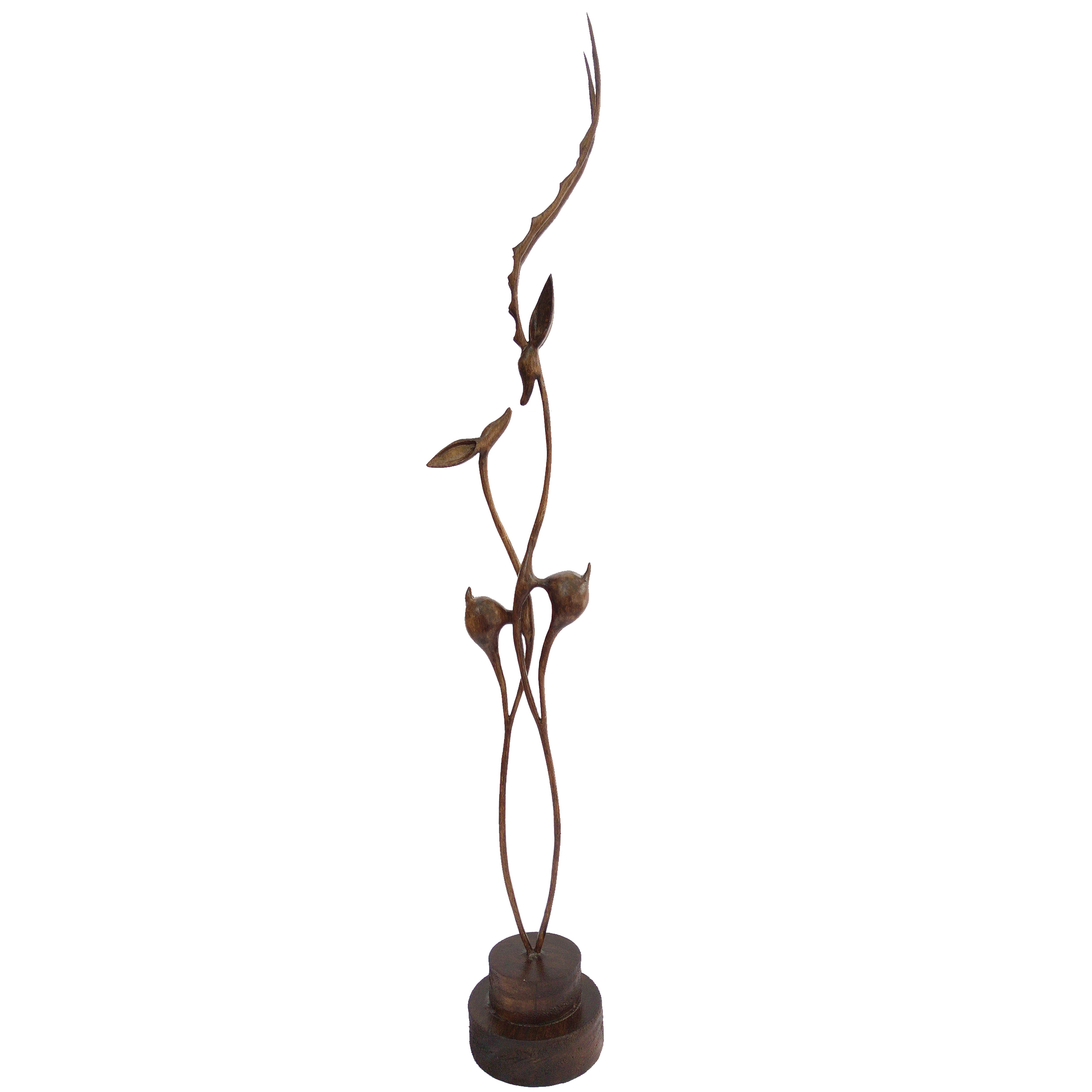 خرید                      مجسمه چوبی طرح غزال های عاشق مدل RV846