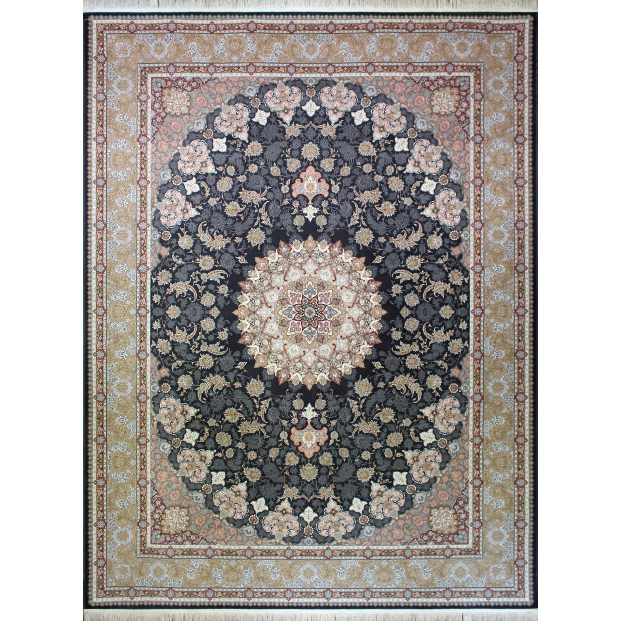 فرش ماشینی کد afrand_55017 زمینه خاکستری