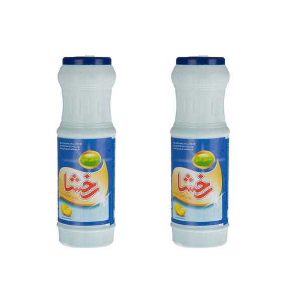 پودر تمیزکننده سطوح رخشا مدل Lemon مقدار 500 گرم بسته 2 عددی