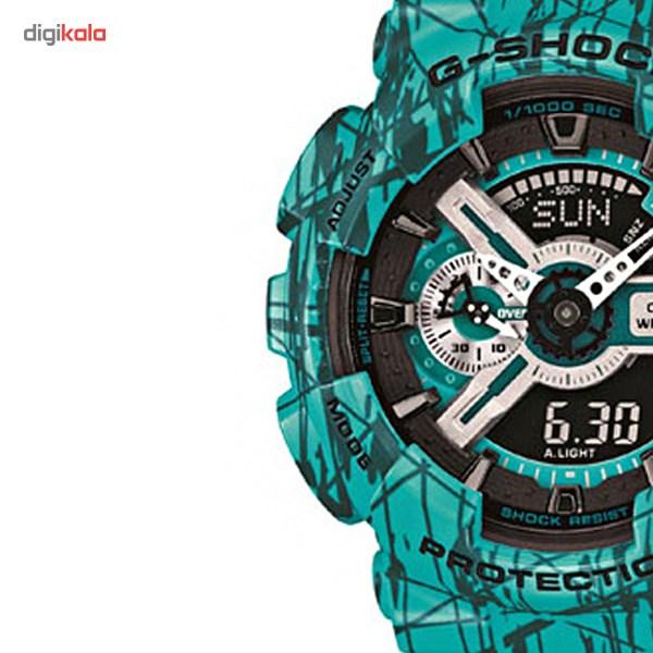ساعت  کاسیو سری جی شاک مدل GA-110SL-3ADR مناسب برای آقایان