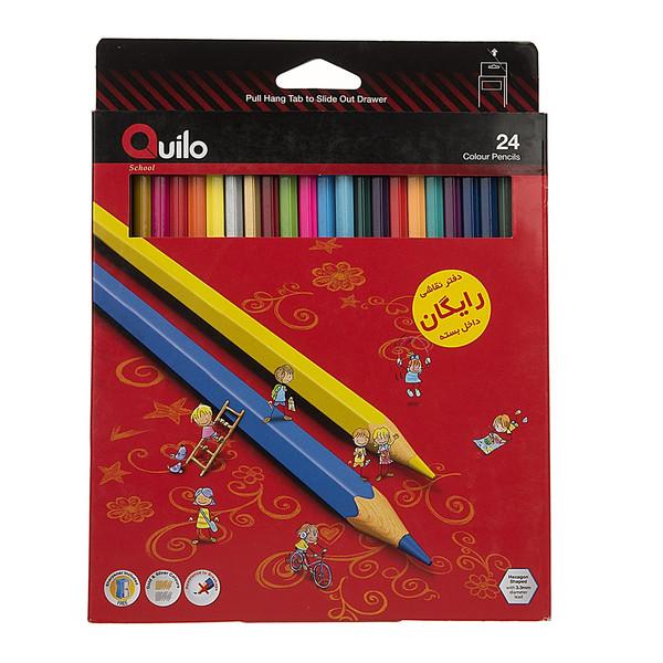 مداد رنگی 24 رنگ کوییلو کد 634004