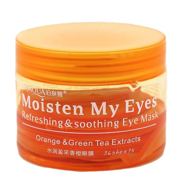 ماسک دور چشم بایو آکوا مدل Orange & Green Tea بسته 36 عددی