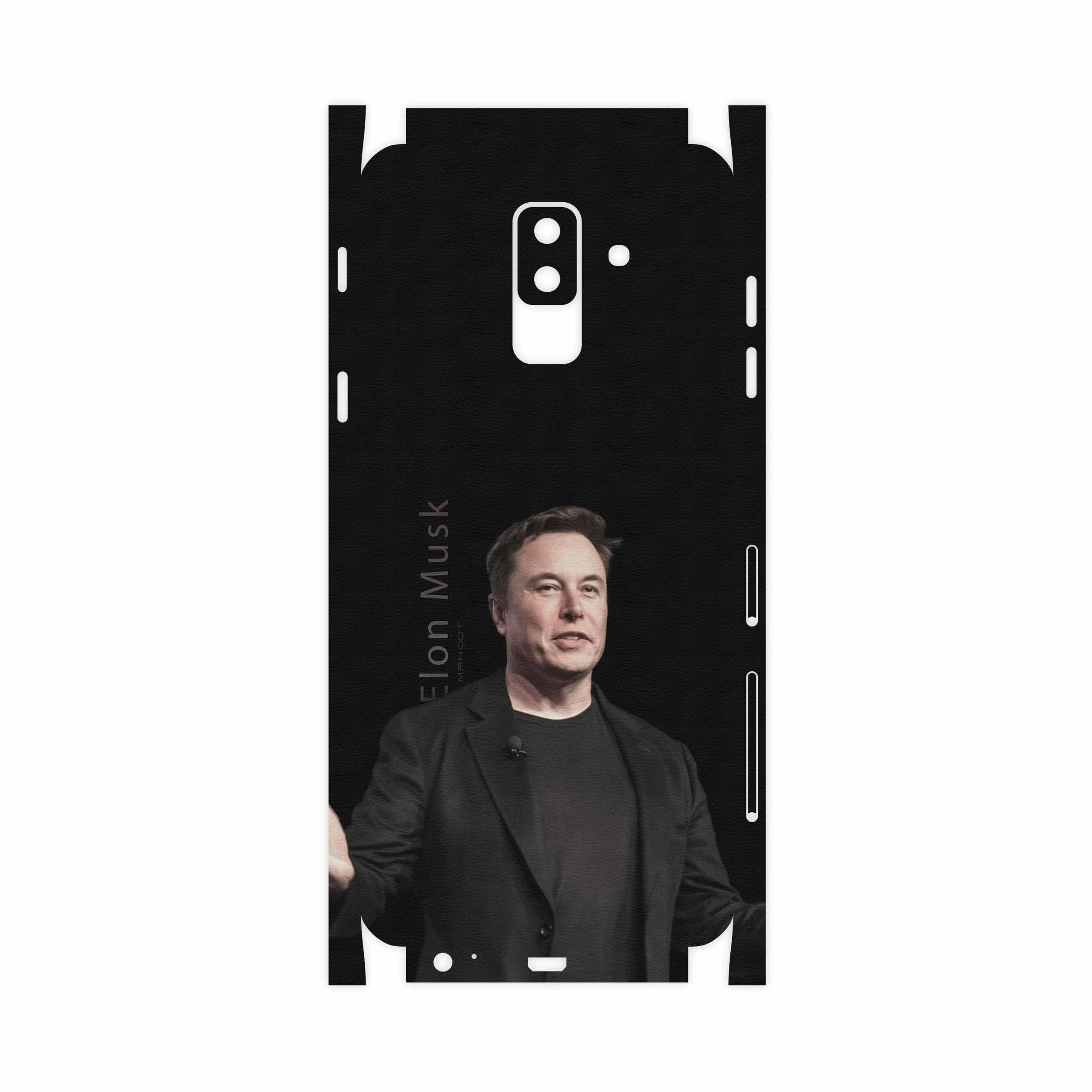 برچسب پوششی ماهوت مدل Elon Musk-FullSkin مناسب برای گوشی موبایل سامسونگ Galaxy A6 Plus 2018