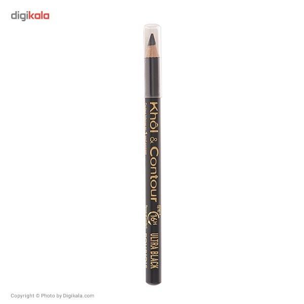 مداد چشم بورژوآ مدل Khol And Countour Ultra Black