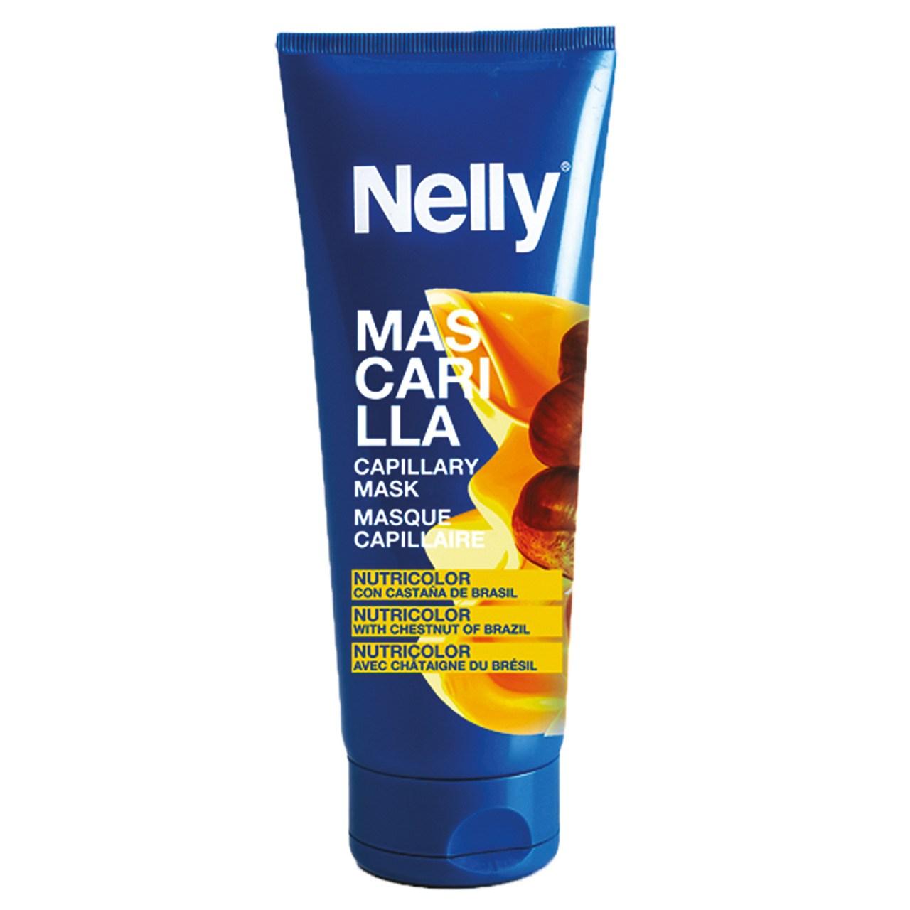 ماسک مو رنگ شده نلی مدل Chestnut Of Brazil حجم 200 میلی لیتر