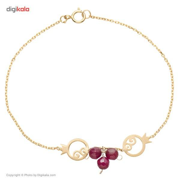 دستبند طلا 18 عیار ماهک مدل MB0141 - مایا ماهک -  - 2