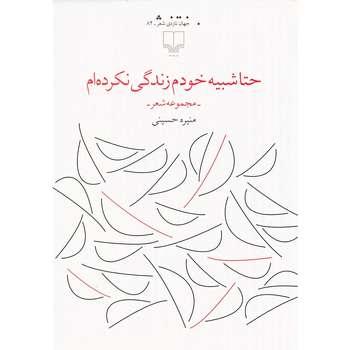 کتاب حتا شبیه خودم زندگی نکرده ام اثر منیره حسینی