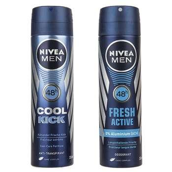 پک اسپری مردانه نیوآ مدل Fresh Active و Cool Kick حجم 150 میلی لیتر - بسته 2 عددی
