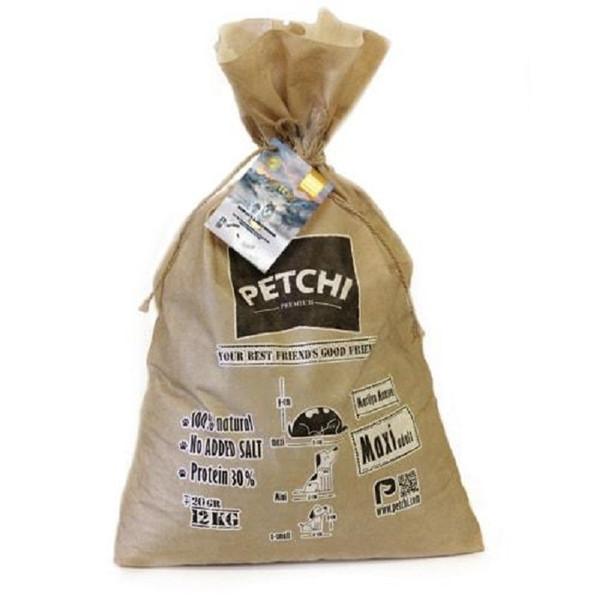 غذای خشک  سگ بالغ پتچی مدلMaxi adult Super permium وزن 12 کیلوگرم