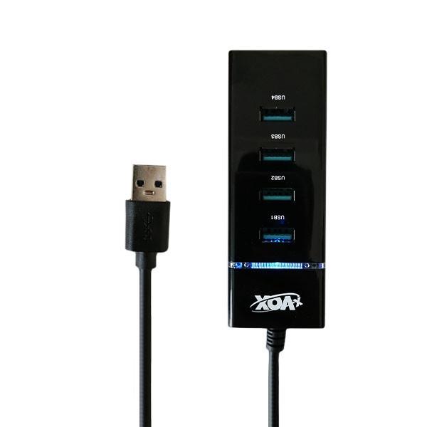 هاب 4 پورت USB3.0 اکس وکس مدل x-818