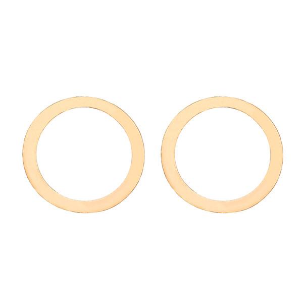 گوشواره طلا 18 عیار زنانه کرابو طرح دایره مدل Kr5059