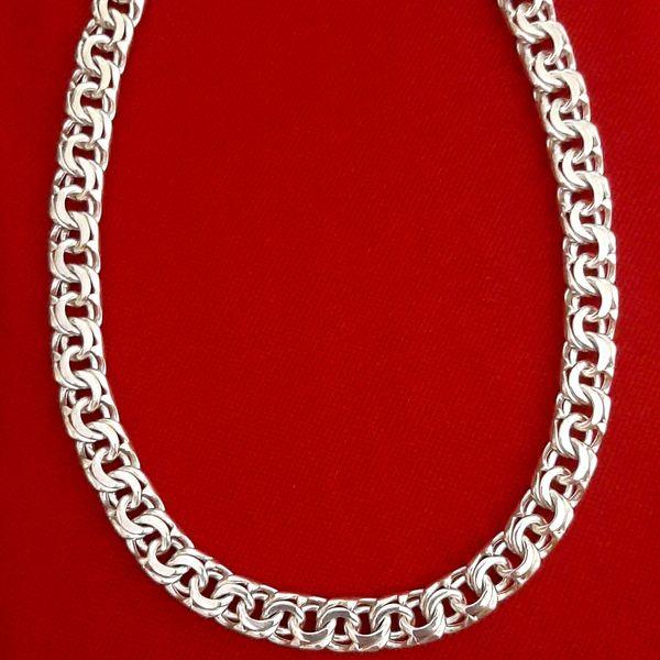 زنجیر نقره مردانه کد HMH11