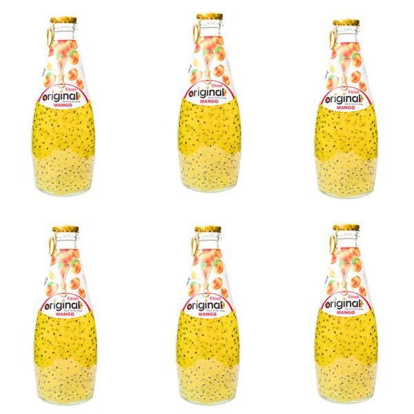 نوشیدنی تخم شربتی با طعم انبه اورجینال - 300 میلی لیتر بسته 6 عددی