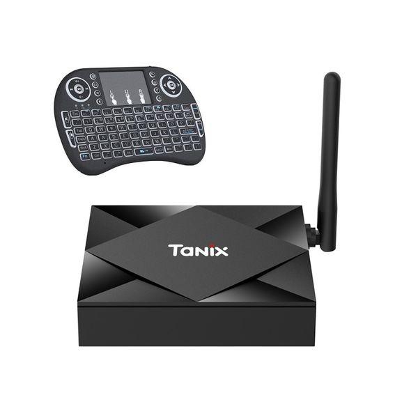 اندروید باکس تانیکس مدل 4/64- TX6S به همراه کیبورد هوشمند تاچ پد