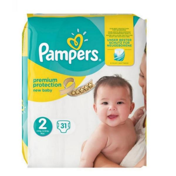پوشک کودک پمپرز مدل premium protection سایز 2 بسته ۳۱ عددی
