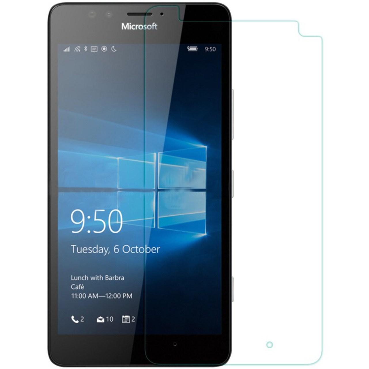 محافظ صفحه نمایش شیشه ای نیلکین مدل Amazing H Anti-Explosion مناسب برای گوشی موبایل مایکروسافت Lumia 950