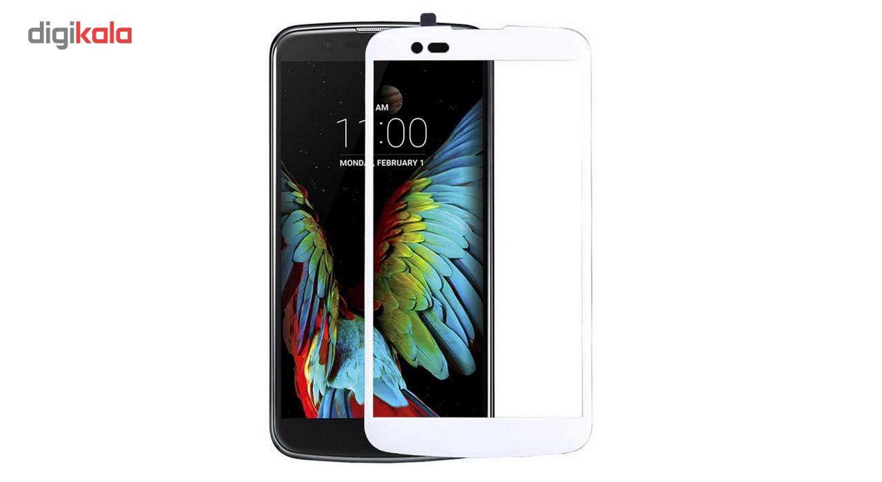 محافظ صفحه نمایش شیشه ای تمپرد مدل Full Cover مناسب برای گوشی موبایل ال جی K10 2016 main 1 2