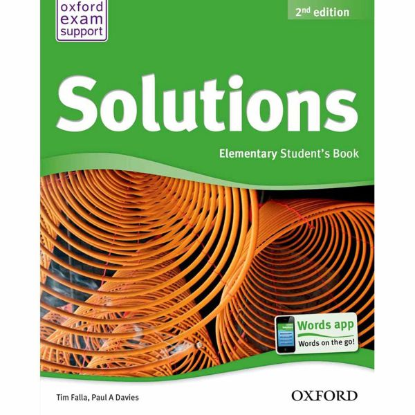 کتاب Solutions Elementary Book And Workbook اثر تیم فالا - دو جلدی