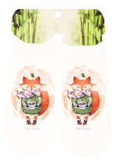 جوراب دخترانه طرح روباه کد SCb58 -  - 1