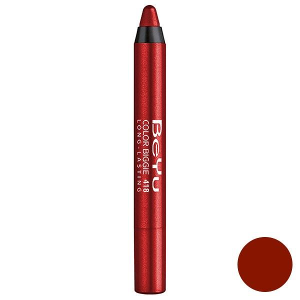 رژ لب مدادی 2 کاره بی یو مدل Color Biggie for Lip and More 418
