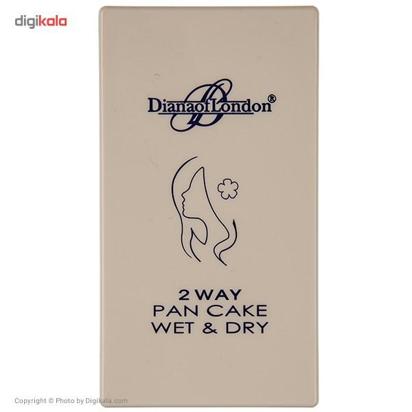 پنکیک دایانا آف لاندن سری 2Way Pan Cake Wet and Dry مدل Ginger Honey شماره 115