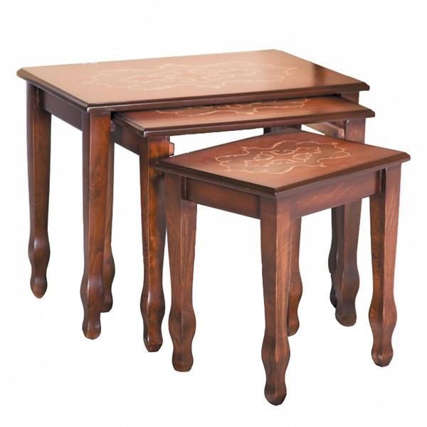 میز عسلی چشمه نور کد A-106 مجموعه 3 عددی