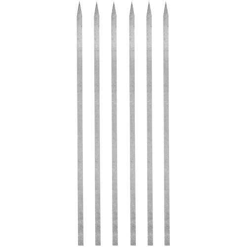 سیخ آلومینیوم جوجه مدل بلند بسته 6 عددی