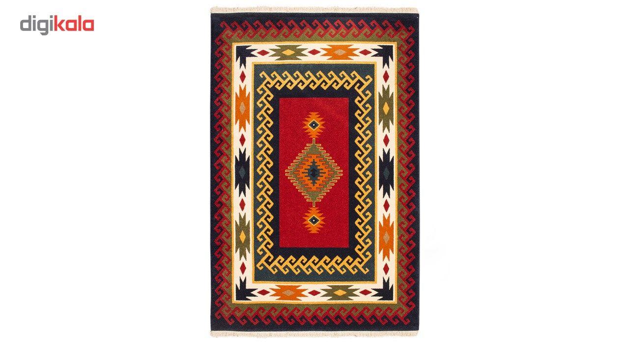 فرش ماشینی ساوین طرح پامچال زمینه سرمه ای کد FSM17 main 1 1
