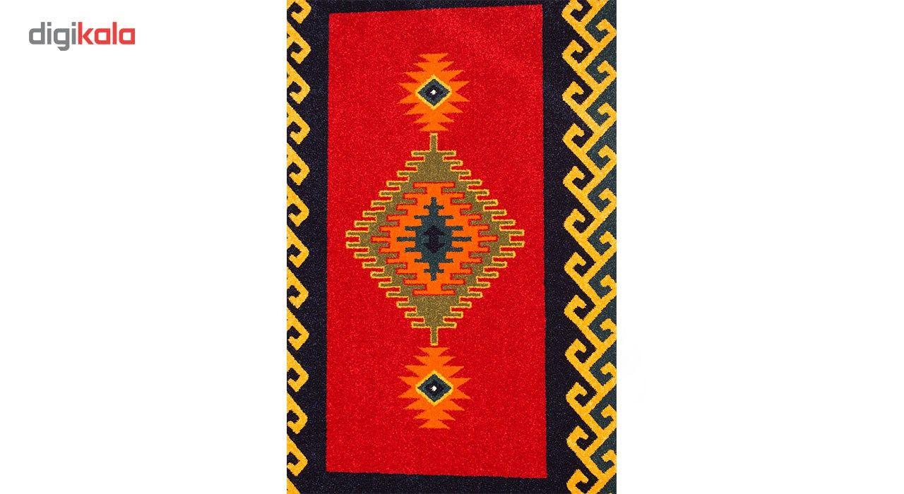 فرش ماشینی ساوین طرح پامچال زمینه سرمه ای کد FSM17 main 1 2