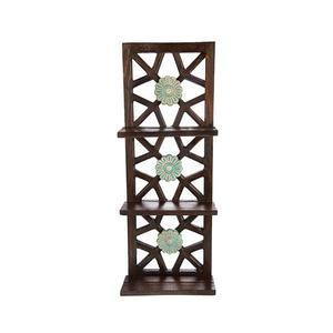 طبقه چوبی طرح گل کد 66030