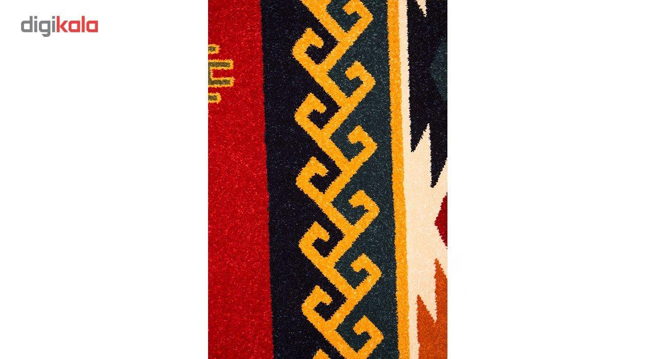 فرش ماشینی ساوین طرح پامچال زمینه سرمه ای کد FSM17 main 1 3