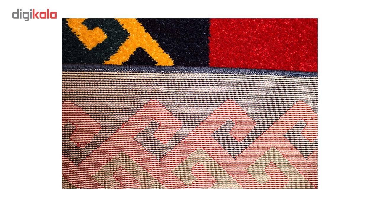 فرش ماشینی ساوین طرح پامچال زمینه سرمه ای کد FSM17 main 1 4