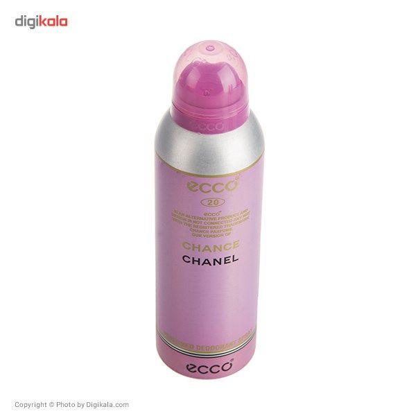 اسپری اکو مدل Chanel Chance حجم 200 میلی لیتر مناسب برای بانوان  Ecco Chanel Chance Spray For Women