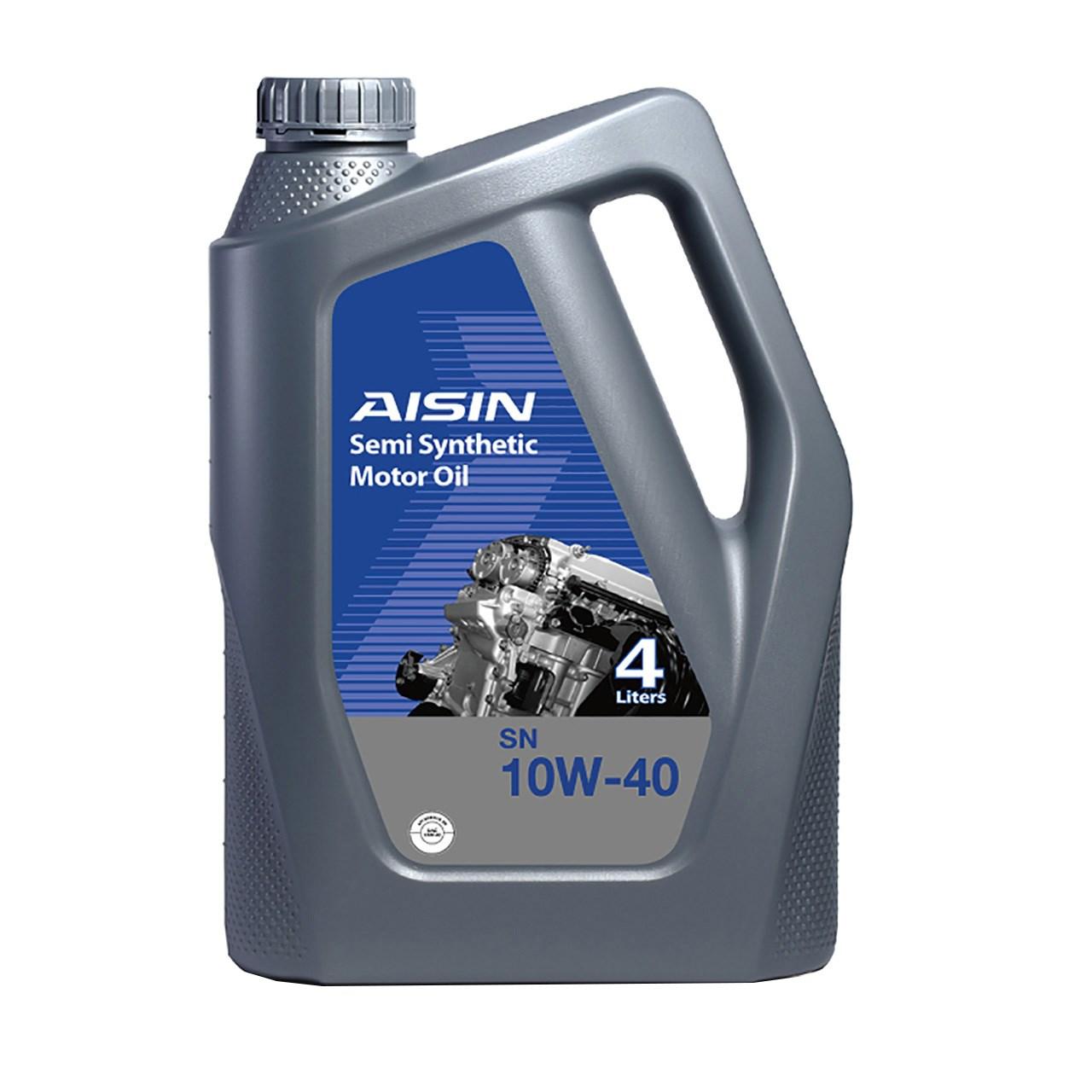 روغن موتور خودرو آیسین مدل SN10W40 ظرفیت 4 لیتر