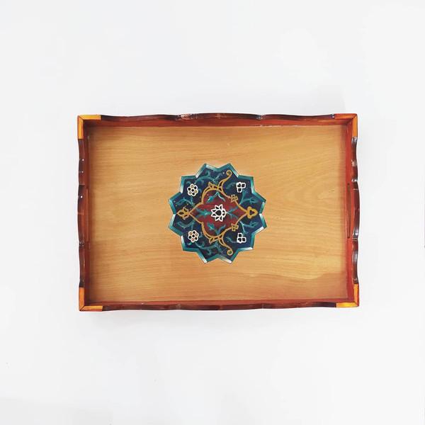 سینی چوبی مدل زنگوله