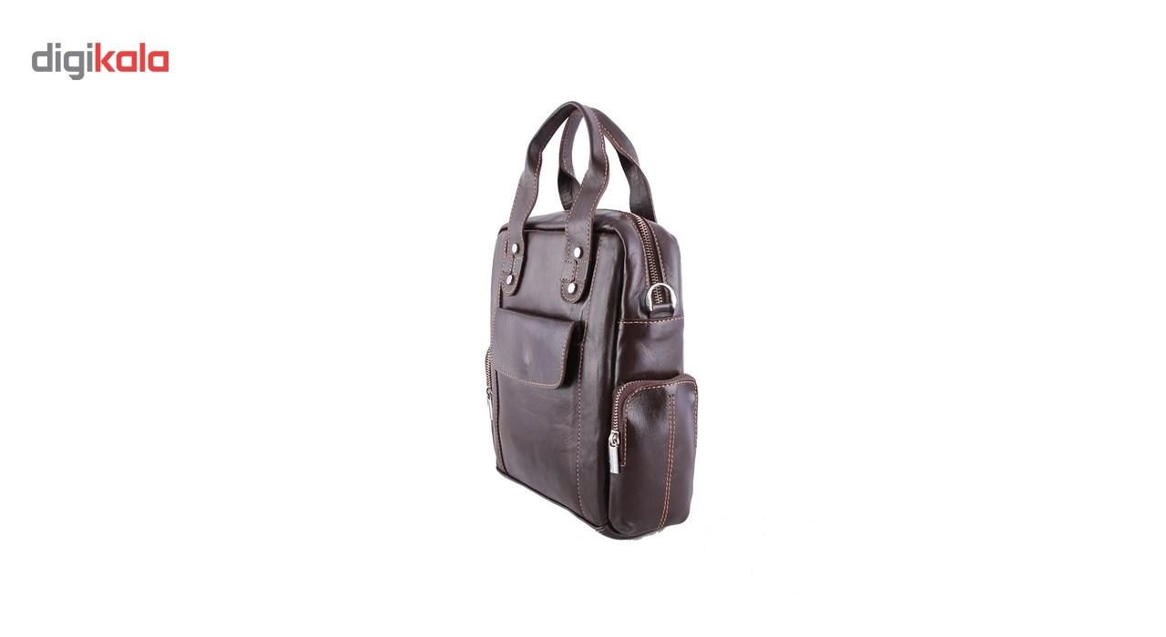 کیف چرم طبیعی ماندگار مدل مینی اداری کد 136038
