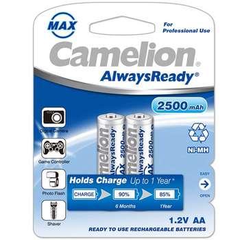 باتری قلمی قابل شارژ کملیون مدل AlwaysReady با ظرفیت 2500 میلی آمپر ساعت بسته 2 عددی