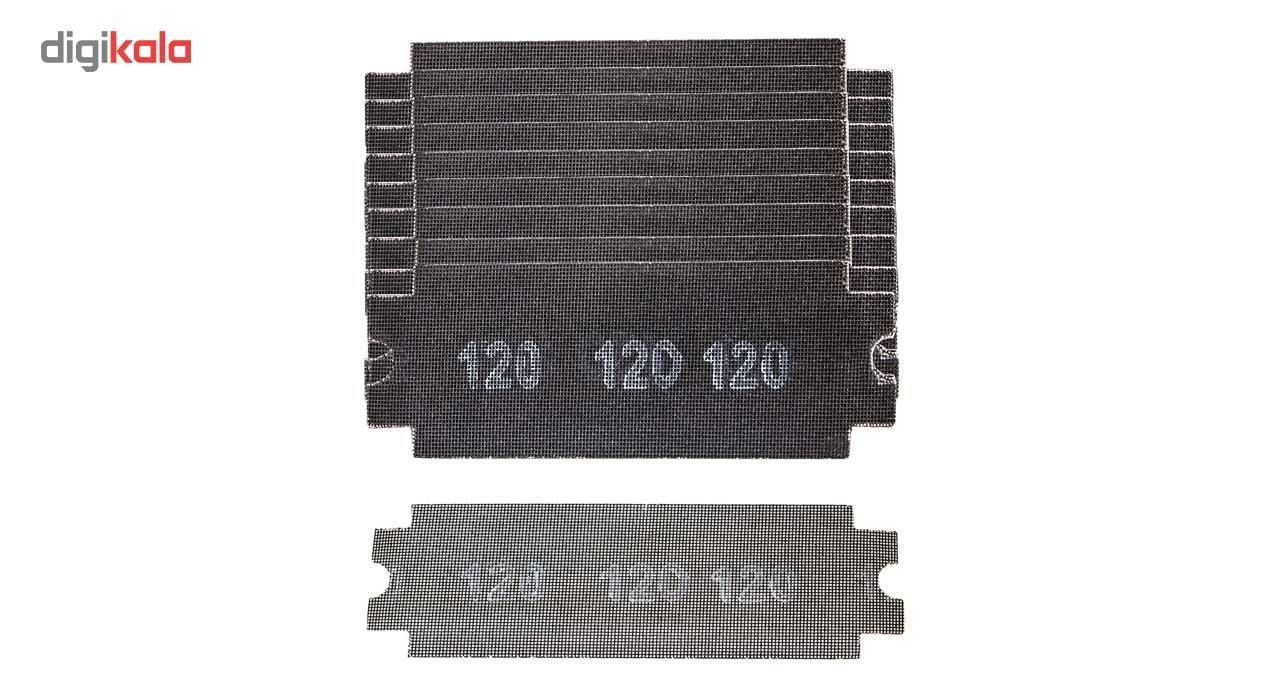 مجموعه 10 عددی سنباده 120 مدل 163655 مخصوص دسته سنباده قفل شونده main 1 1