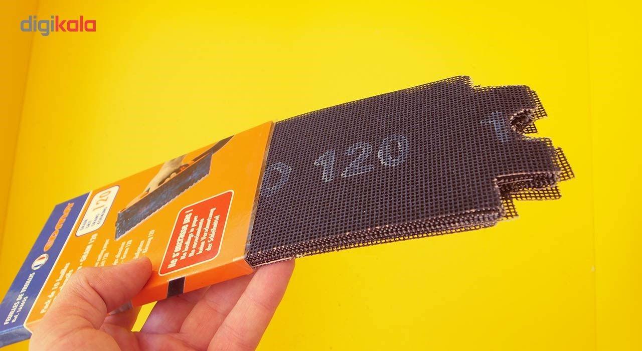 مجموعه 10 عددی سنباده 120 مدل 163655 مخصوص دسته سنباده قفل شونده main 1 4